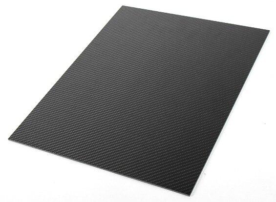3 K 100% pannello in lamiera piastra In Fibra di Carbonio plain Tessuto Lucido 300mm X 400mm X 1.5mm