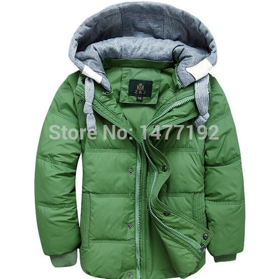 ФОТО New brand winter down coat male child short design thickening children's clothing baby kids down vest jacket parkas