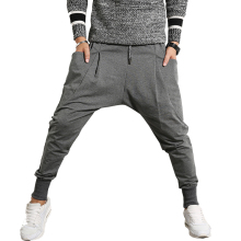 Newest Men Harem Pants Hip Hop Joggers Men Big Pocket Streetwear Casual Sweatpants Solid Male Trousers