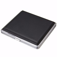 20 Cigarette Case Storage Holder Aluminum Box Container Double Sided Flip Open Gift