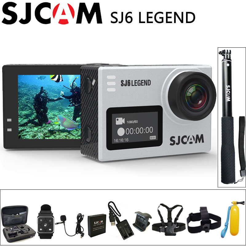 "100% Original Sjcam Sj6 Legende Sport Action Kamera 4 Karat Wifi 30 Mt Wasserdicht Ultra Hd 2 ""touch Screen Notavek 96660 Sport Dv Aromatischer Geschmack"