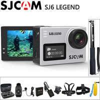 "100% Original SJCAM SJ6 Legend cámara de acción deportiva 4K Wifi 30M impermeable Ultra HD 2 ""pantalla táctil notavek 96660 DV deportes"