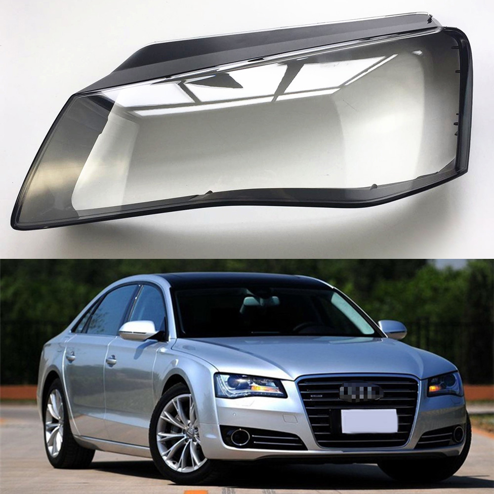 For Audi A8 2011 2012 2013 Transparent Car Headlight Headlamp Clear Lens Front Auto Shell Cover