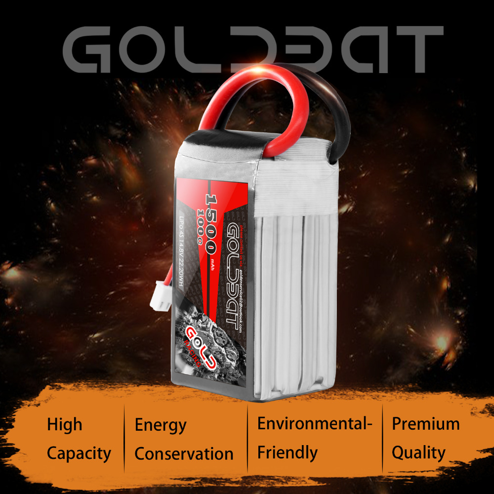 Image 3 - 2units GOLDBAT 1500mah Lipo Battery 14.8v Battery Lipo 4s Battery 14.8v lipo drone Battery 100C with XT60 Plug for fpv rc Truck-in Parts & Accessories from Toys & Hobbies