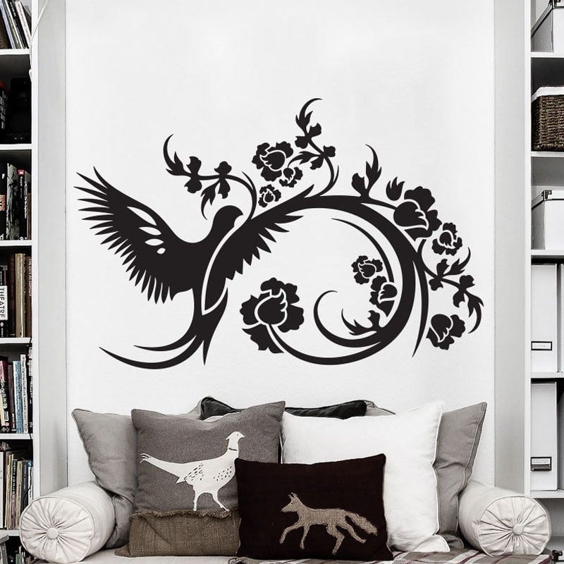 Flower Bird Font B Wall