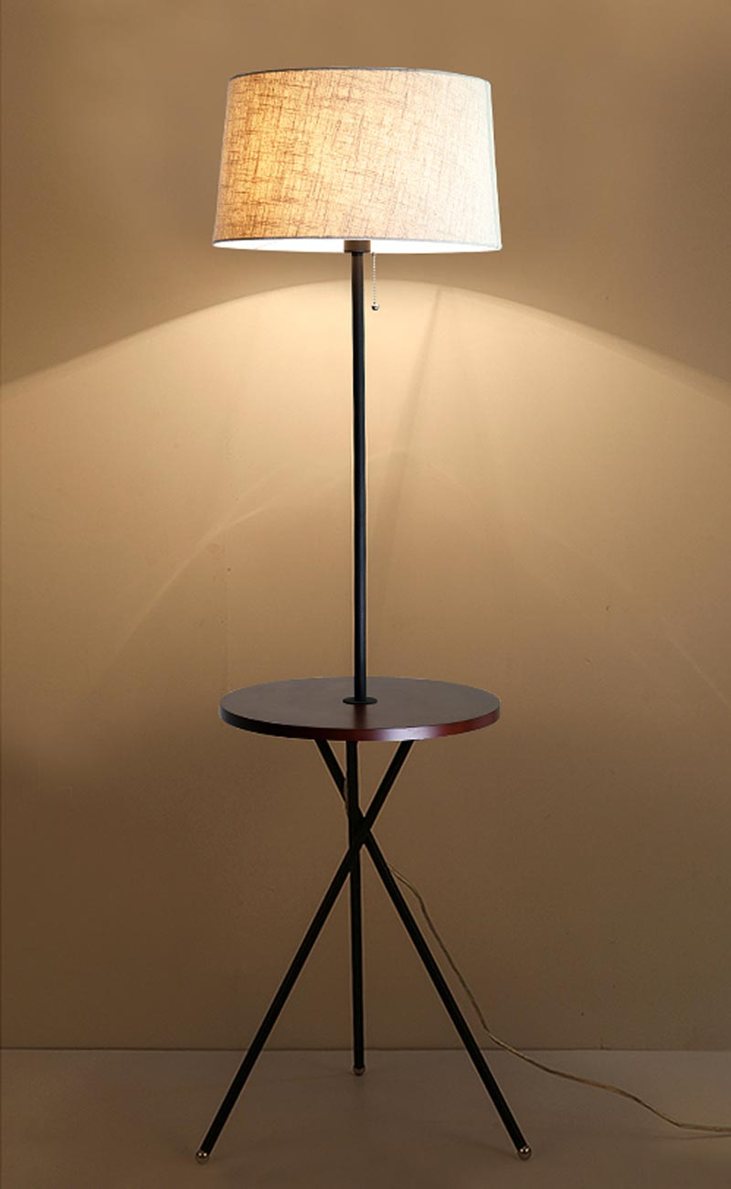 new modern wood table floor lamp 5w led bulb living room bedroom study standing lights decor home black iron white fabric 220v in floor lamps from lights - Standing Lights For Living Room