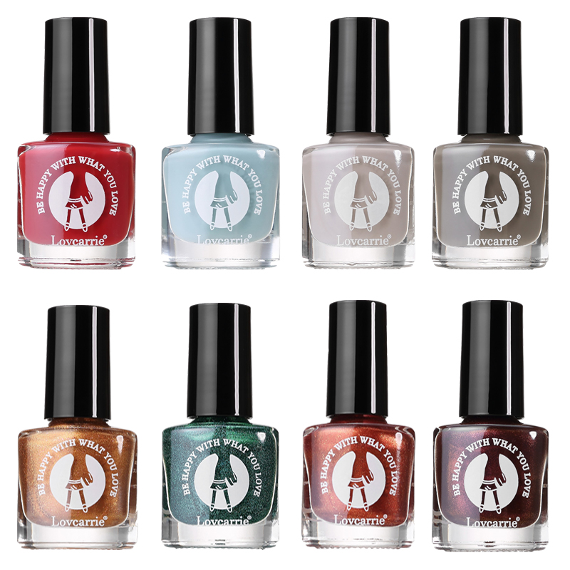 1 PCS Nail Polish Set Nude Summer Color Glitter Oridnary Nail Polish Lacquer Semi Permanant Jelly Manicure Varnish for Nail Art in Nail Polish from Beauty Health