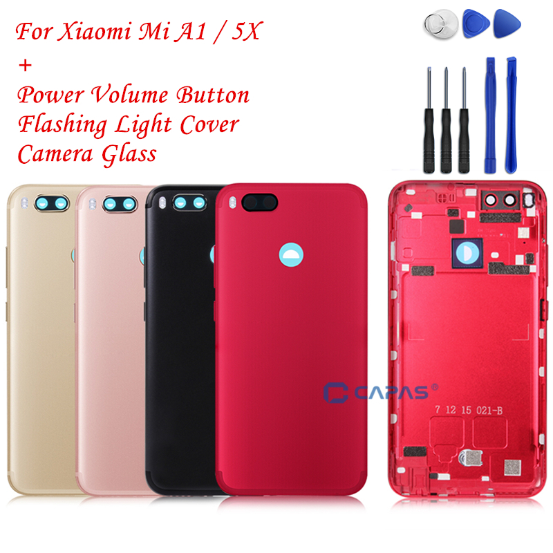 the best attitude d2aed 2619d US $13.13 10% OFF|Xiaomi Mi A1 Back Battery Housing Metal Cover Xiaomi MiA1  Rear Cover + Camera Glass + Key Button Replacement Spare Repair Parts-in ...
