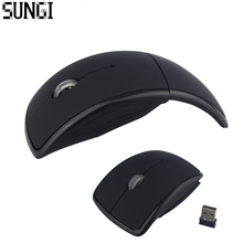 Sungi Portable 2.4G Foldable Wireless Mouse Computer Accessories Arc Optical Mouse With Mini USB Receiver For Laptop Tablet  PC