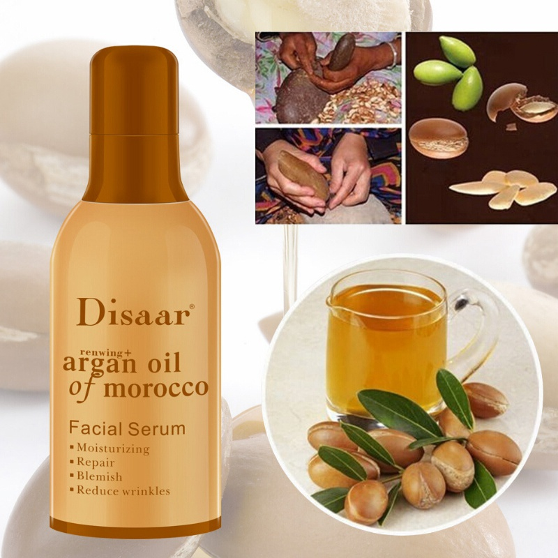 Face Serum Argan Essential Oil Moisturizing Skin Smooth Fine Lines Anti-Wrinkle Essence