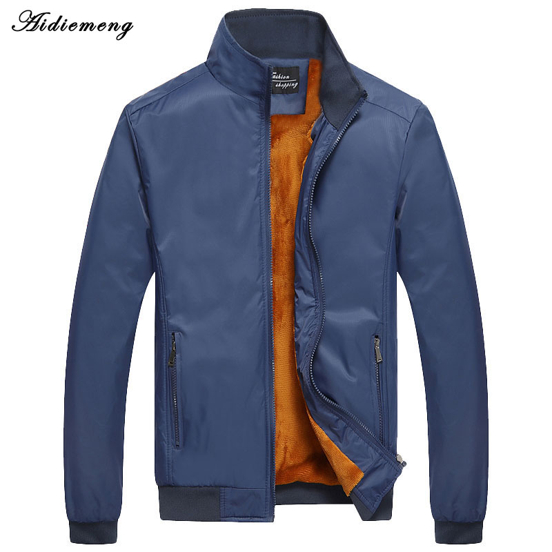 2017 New Winter Jacket Men Brand Casual Mens Jackets Coats Male Slim Fleece Coat Bomber Jackets ...