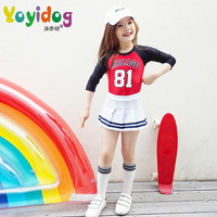 Style Split Swimsuit Swimming Fashion Girls Digital Long Sleeve Sunscreen Children S Swimming Clothing Wholesale