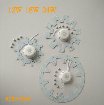12W 18W 24W LED Light SMD 5730 SMD LED Round Ceiling light + driver + magnet
