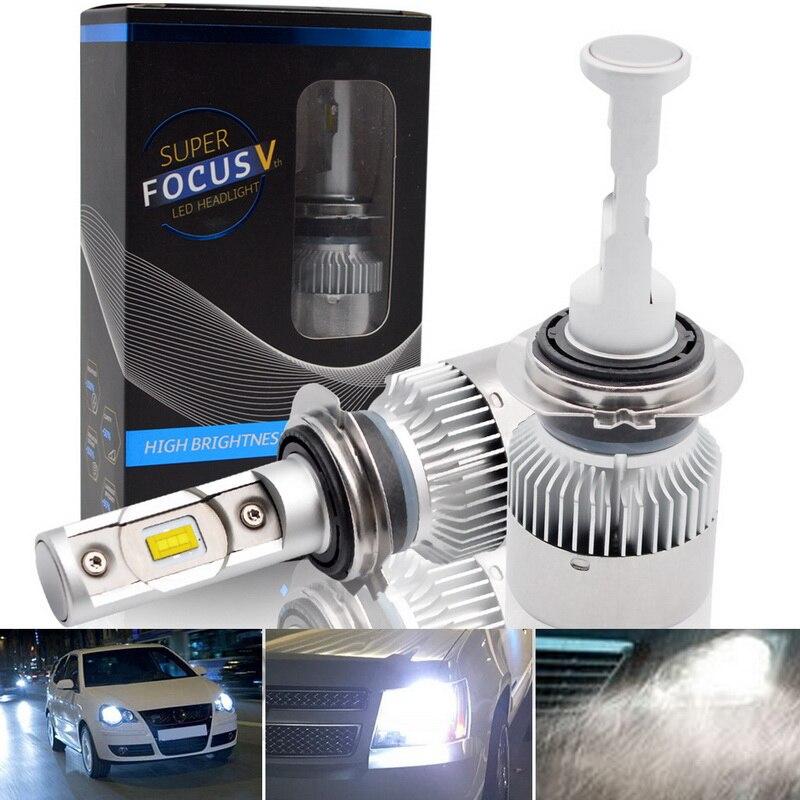 H7 led H4 Hi-Lo Fascio H8 H9 H11 70 w LED Auto Lampadine Del Faro 6000lm CSP Chip 6000 k Auto Faro Luminoso Eccellente Kit di Conversione