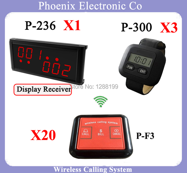 Incluindo o Relógio Da Cozinha E Restaurante Pager garçom Chamada Sistema K-200c