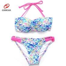 New Sexy Lady Ethnic Bikini Set Push Up Padded Bra Swimsuit Swimwear plus up Beachwear
