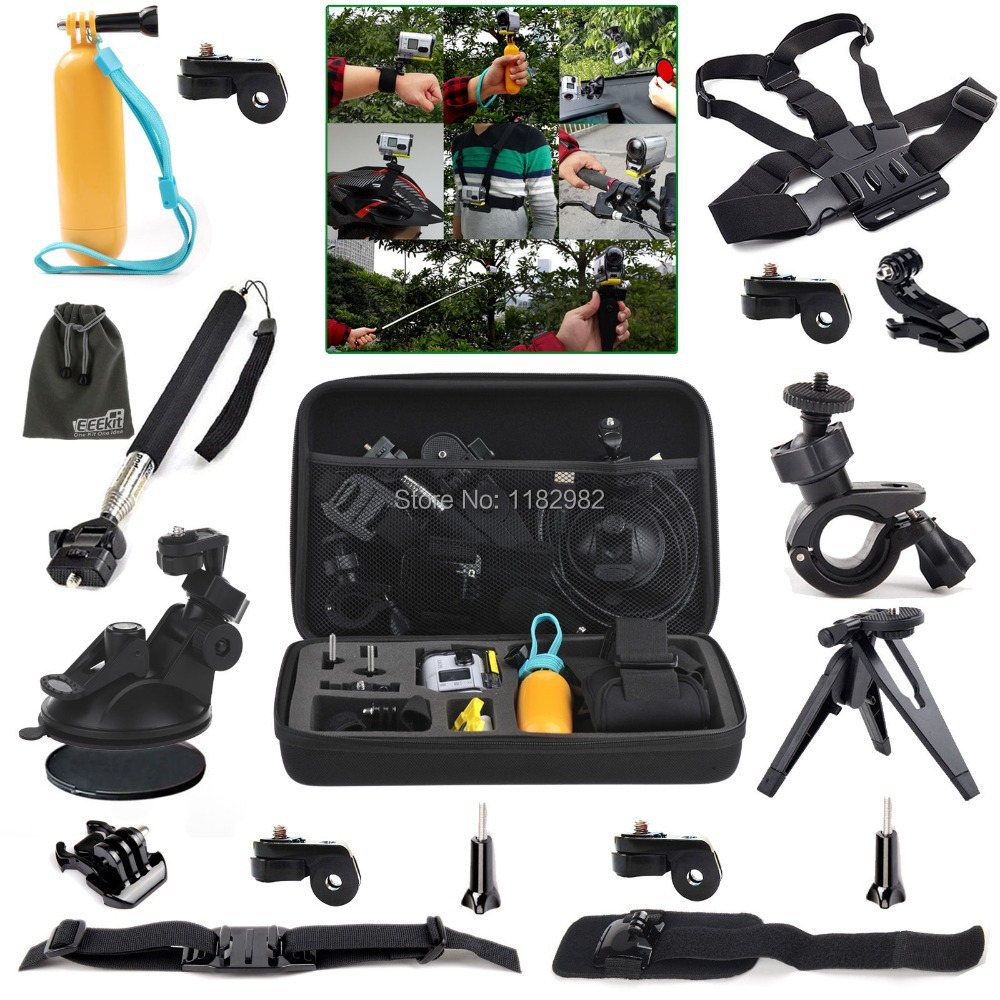 10in1 1set Outdoor Sports Accessories Kit + Helmet Strap Mount + Chest Belt Strap Mount  ...