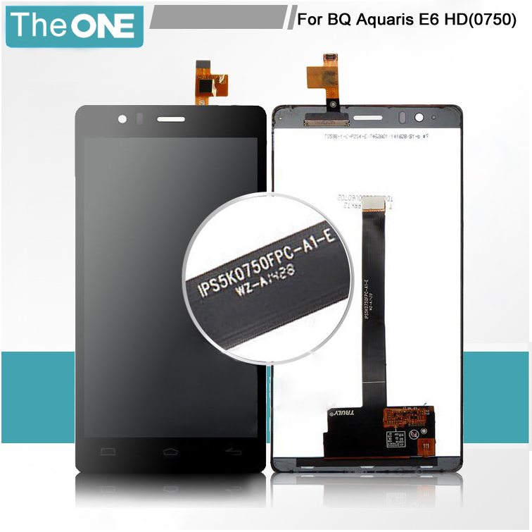 ФОТО 10pcs/lot Free DHLIPS5K0750FPC-A1-E 100% Test Full LCD Display Screen For BQ Aquaris E6 with Digitizer Touch Glass Black