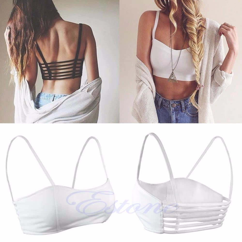 KLV Women Girls Sexy Padded Bra Crop   Tops   Vest Summer Beach   Tank     Tops   Fashion Chic