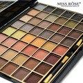 Miss rose cosméticos nova marca 48 cores da paleta da sombra natural nude fosco sombra de olho maquiagem profissional para as mulheres com escova