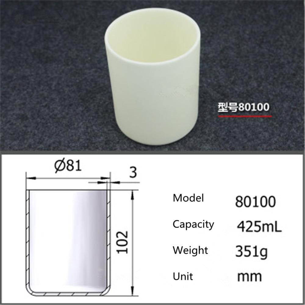 99.5% Cylindrical corundum crucible/425ml 80100/Temperature resistance 1600 degree / sintered ceramic crucibl99.5% Cylindrical corundum crucible/425ml 80100/Temperature resistance 1600 degree / sintered ceramic crucibl