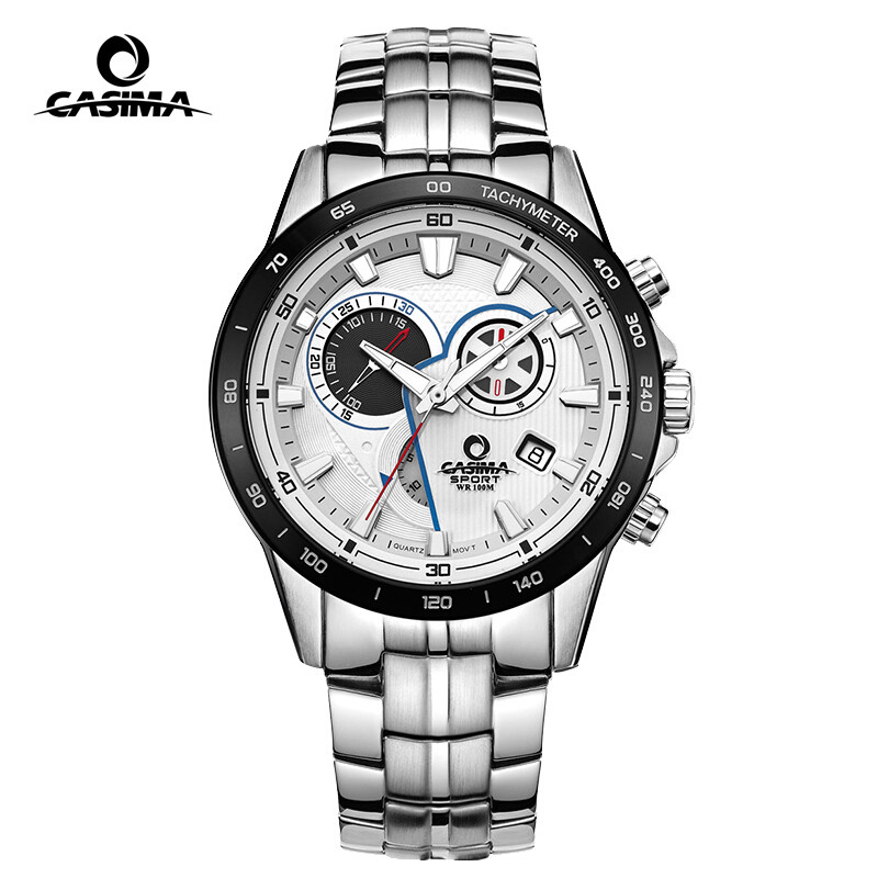 Casima quartz men 39 s sports watches with date luminous multifunctional chronograph waterproof for Casima watches