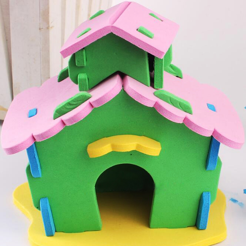 1set Creative Baby Eva House Toy Diy Puzzle Handmade Childrens Spell