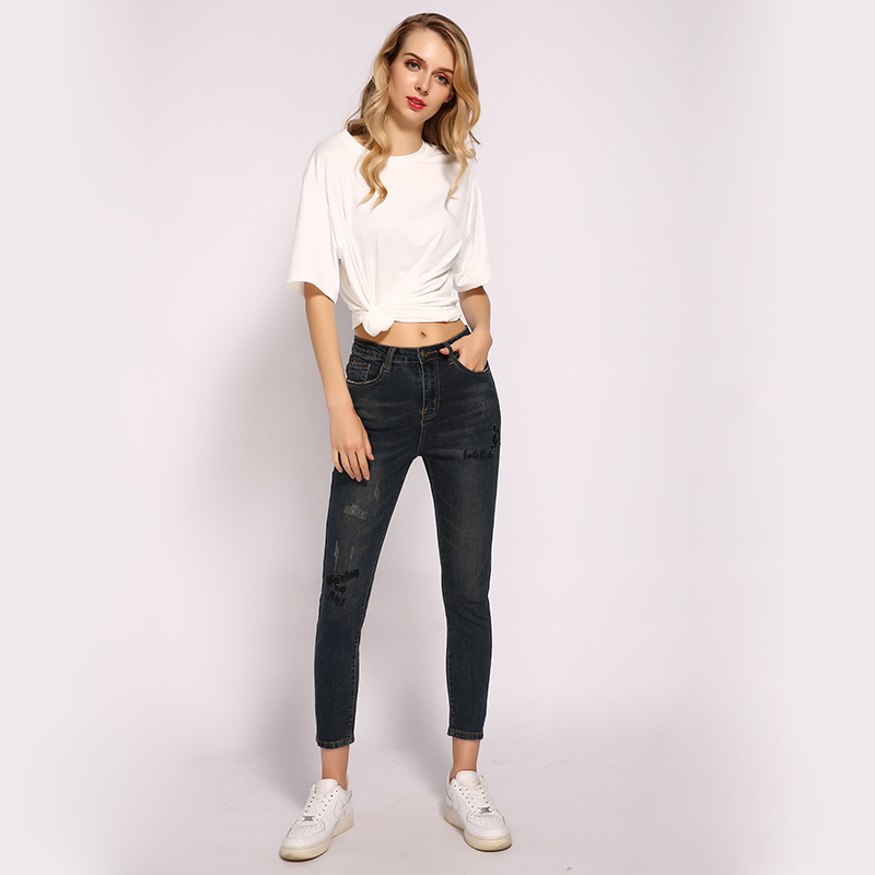 ME&SKI Skinny Jeans Woman High Waist Jean Ankle Length Boyfriend for Women