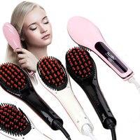 2017 The New Brush Hair Straightener Comb Irons Electric Hair Straightener Brush Anti Scald Comb Auto