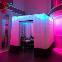 цены на 2.5M Two Doors Inflatable Photo Booth backdrop With LED Strip Lights White with black color Cabin Boot For Wedding, Party, Event  в интернет-магазинах