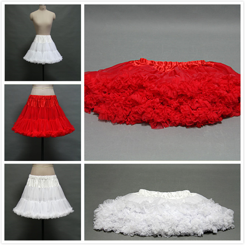 Short Petticoat 2016 A Line Cheap Petticoats For Wedding Dress Prom Cocktail Black White Red Tulle Bridal Petticoats Underskirts