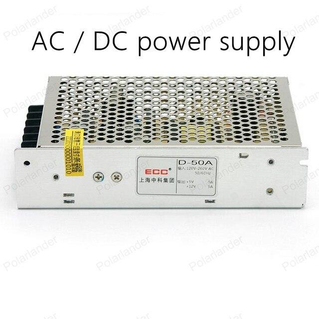 AC/DC 12 В 50 Вт двойной выход Переключатель питания LED Освещение трансформатор Напряжения Питания драйвер для Led RGB Strip Light
