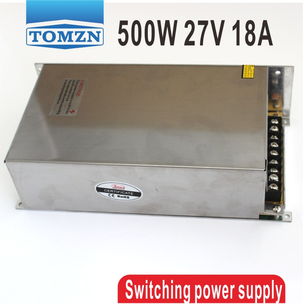 500W 27V 18A 110V INPUT Single Output Switching power supply for LED Strip light AC to DC