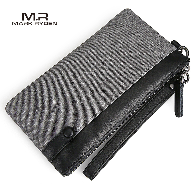 Mark Ryden New Men Wallet Large Capacity Hand Bag Cell Phone Pocket Oxford Long Wallet Men Purse Card Holder best quality 40v 10a 400w switching power supply driver for cctv camera led strip ac 100 240v input to dc 40v