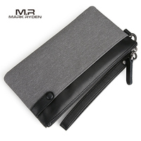 Mark Ryden New Men Wallet Large Capacity Hand Bag Cell Phone Pocket Oxford Long Wallet Men Purse Card Holder