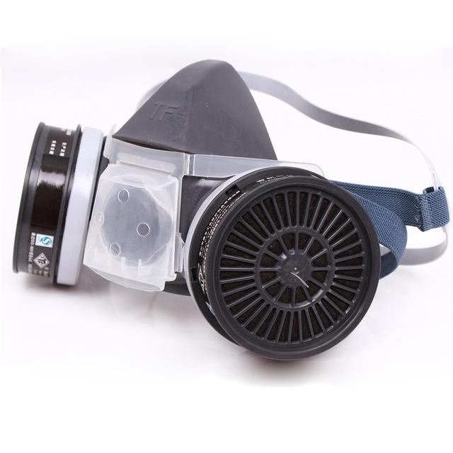 Industrial de seguridad del respirador gris de silicona pulverización máscara pesticidas pintura máscara con filtro envío gratuito