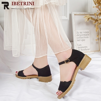 RIBETRINI cuñas tobillo botas mujer Vintage cremallera