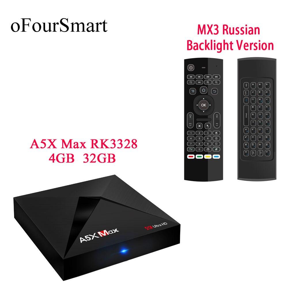 H96 Max RK3399 Hexa Core 4K TV Box 4+32G Dual WiFi Tpye-C BT Home Media Streamer