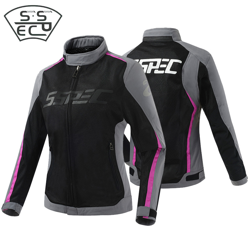 SSPEC Women motorcycle jack Summer Mesh Jacket Motocross Off Road Protective Gear Auto Racing jacket Outdoor