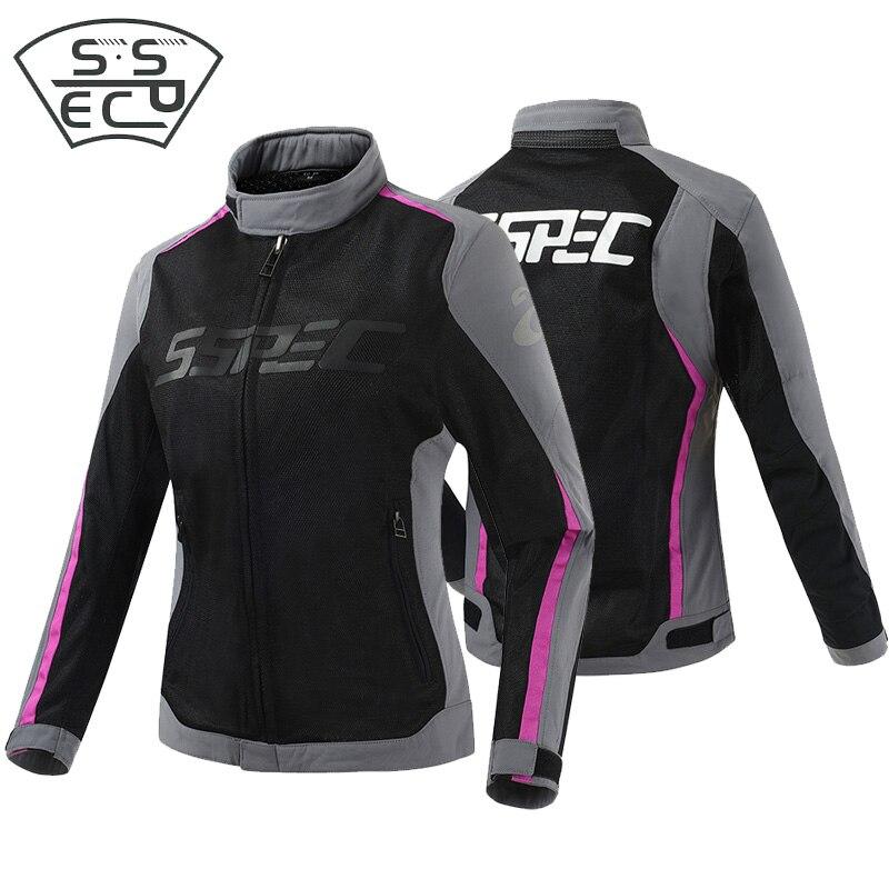 SSPEC Women motorcycle jack Summer Mesh Jacket Motocross Off Road Protective Gear Auto Racing jacket Outdoor