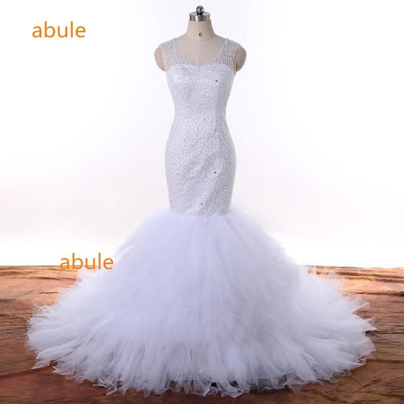 abule वेडिंग ड्रेस लंबी ट्रेन - शादी के कपड़े