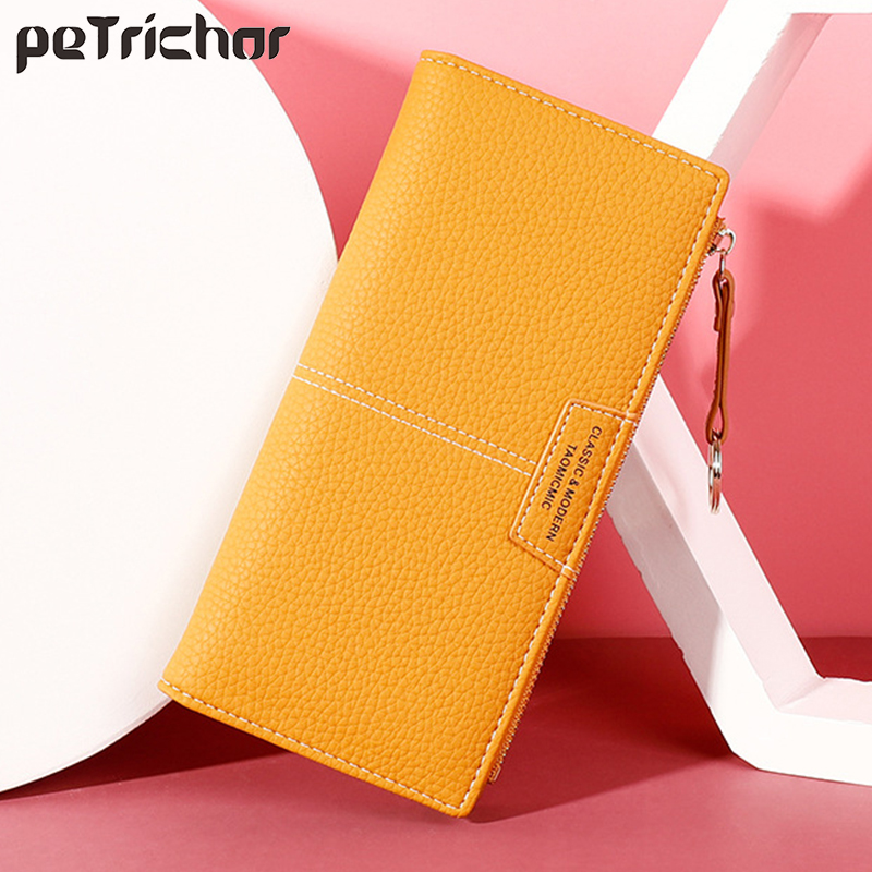Women Long Wallet Many Departments Female Wallets Clutch Lady Leather Coin Purse Zipper Phone Pocket Card Holder Ladies Carteras