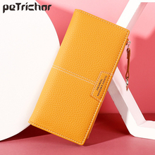 Women Long Wallet Many Departments Female Wallets Clutch Lady Leather Coin Purse Zipper Phone Pocket Card Holder Ladies Carteras new arrival women wallets high quality female long purse lattice women s coin wallet lady clutch cell phone pocket big promotion