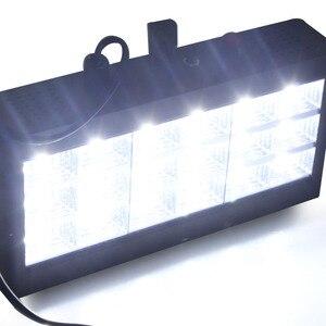 Image 3 - Светодиодный сценический светильник со звуковым управлением музыкой 18 Вт RGB, вечерние стробоскопы для DJ, дискотечный светильник 220 В переменного тока 110 В, лазерный проектор, клубный бар