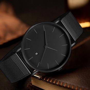 Classic Black Quartz Men's Watch