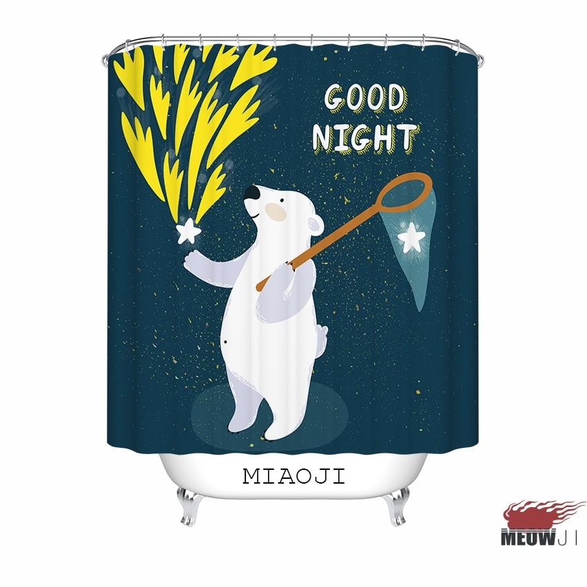 [MIAOJI]  Good Night Starry Sky In Blue custom Shower Curtain - Household Merchandises - Photo 1