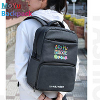 New MoYu Cube Backpack For Magic Puzzle Cubes Bag 2x2 3x3 4x4 5x5 6x6 7x7 8x8 9x9 10x10 Speed Cube Competition Large Gift Black