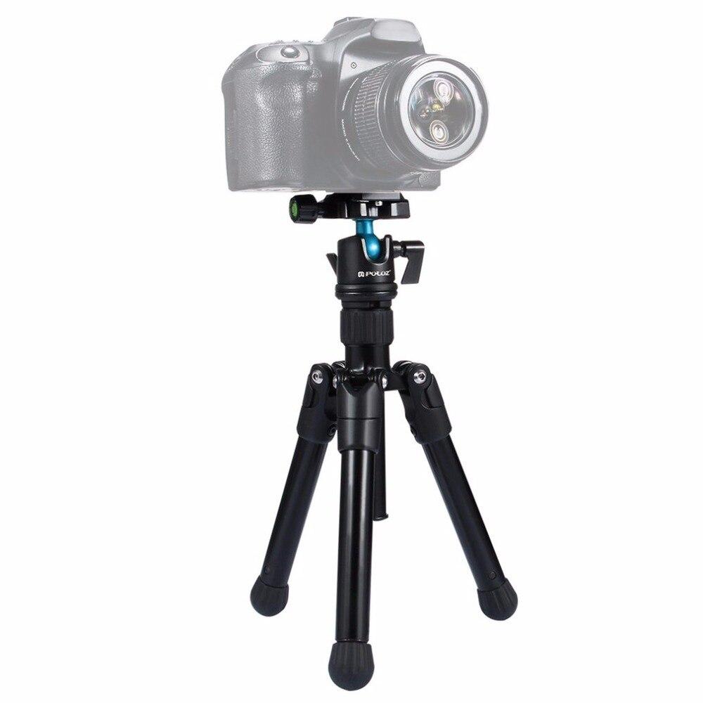 PULUZ Professionnel Mini Métal Trépied Avec 360-degrés Rotule Support Stand Support Trépied Compatible Photographie Fournir