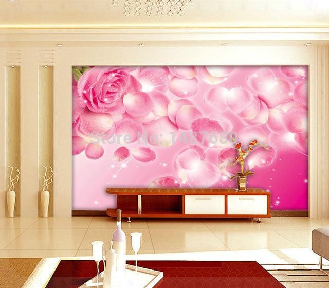 Any Size rose Custom 3d mural wall paper Large mural wallpaper ...