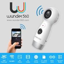 Wunder360 360 градусов панорамный VR 360 Камера Двойной объектив панорамный Камера 4 К HD Wifi Mini 4 К HD kamera Live потоковое Micro USB